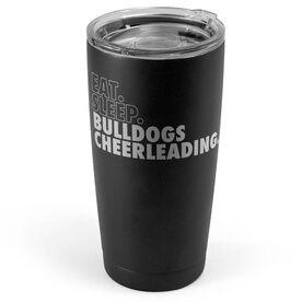 Cheerleading 20 oz. Double Insulated Tumbler - Personalized Eat Sleep Cheerleading