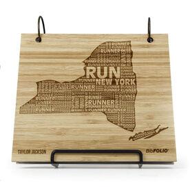 Engraved Bamboo Wood BibFOLIO New York State Runner