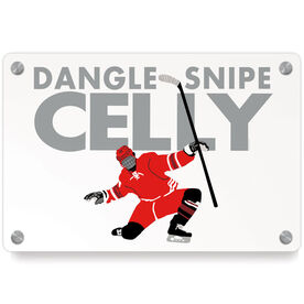 Hockey Metal Wall Art Panel - Dangle Snipe Celly