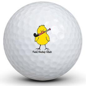 Field Hockey Chick Golf Balls
