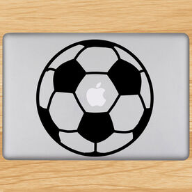 Soccer Ball Removable ChalkTalkGraphix Laptop Decal