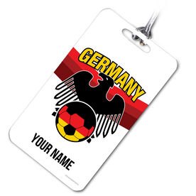 Soccer Bag/Luggage Tag Personalized Germany Soccer