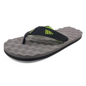 PR SOLES® Recovery Flip Flops - Green/Gray