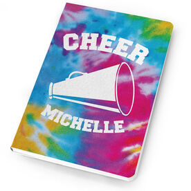 Cheerleading Notebook Tie Dye Pattern with Cheer Megaphone
