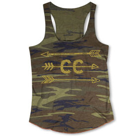 Cross Country Camouflage Racerback Tank Top - Arrows