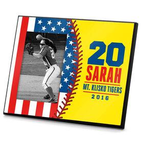 Softball Photo Frame Softball USA Flag
