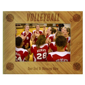 Volleyball Bamboo Engraved Picture Frame Volleyball