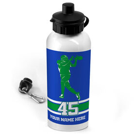 Football 20 oz. Stainless Steel Water Bottle Personalized Football Wide Receiver