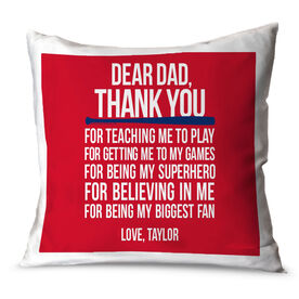 Baseball Throw Pillow Dear Dad Baseball