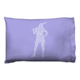 Softball Pillowcase - Personalized Words Batter