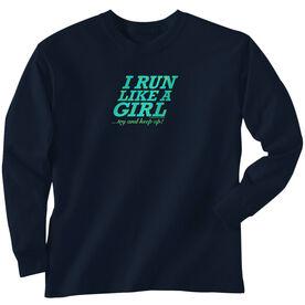 Youth T-Shirt Long Sleeve I Run Like A Girl