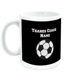 Soccer Ceramic Mug Thanks Coach Ball Graphic With Team Roster