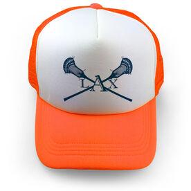 Guys Lacrosse Trucker Hat - LAX Crossed Sticks