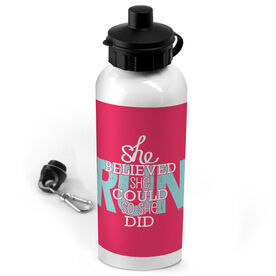Running 20 oz. Stainless Steel Water Bottle She Believed She Could