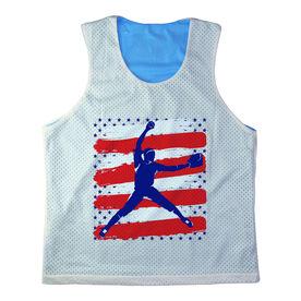 Girls Softball Racerback Pinnie Personalized USA Softball Pitcher