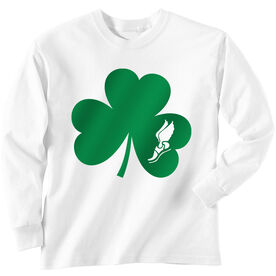 Track & Field Tshirt Long Sleeve Shamrock With Winged Foot Cutout