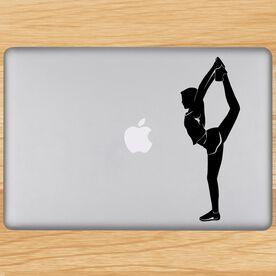 Cheerleader Backward Foot Grab Silhouette Removable ChalkTalkGraphix Laptop Decal