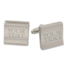Custom Text Cufflinks
