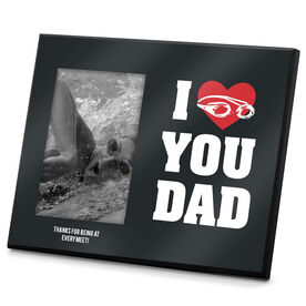 Swimming Photo Frame I Heart You Dad Swim
