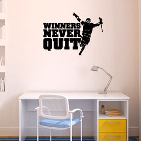 Guys Lacrosse Removable ChalkTalkGraphix Wall Decal - Winners Never Quit