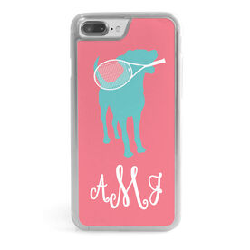 Tennis iPhone® Case - Monogrammed Tennis Dog with Racket