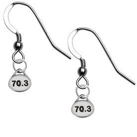 Sterling Silver 70.3 Triathlon Running Earrings