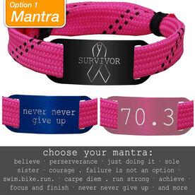 RaceLACE Mantra Bracelet - PINK