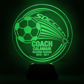 Soccer Acrylic LED Lamp Corner Kick Coach With 3 Lines