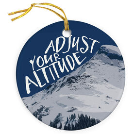 Skiing & Snowboarding Porcelain Ornament - Adjust Your Altitude