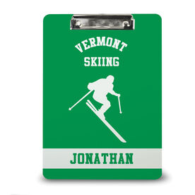 Skiing Custom Clipboard Personalized Ski Team