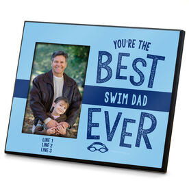 Swimming Photo Frame Best Swim Dad Ever