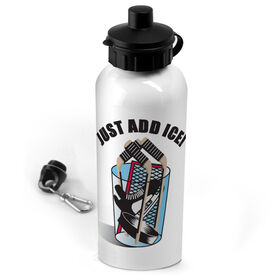 Hockey 20 oz. Stainless Steel Water Bottle Just Add Ice