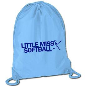Softball Sport Pack Cinch Sack Little Miss Softball