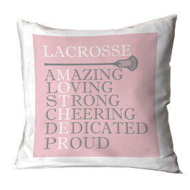 Guys Lacrosse Throw Pillow - Mother Words