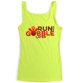 Women's Athletic Tank Top Run Now Gobble Later