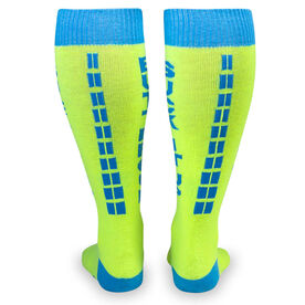 Woven Yakety Yak! Knee High Socks - Suck It Up Buttercup (Neon Yellow)