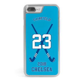 Field Hockey iPhone® Case - Personalized Team with Crossed Sticks