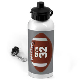 Football 20 oz. Stainless Steel Water Bottle Personalized Football Photo