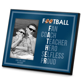 Football Photo Frame Football Father Words