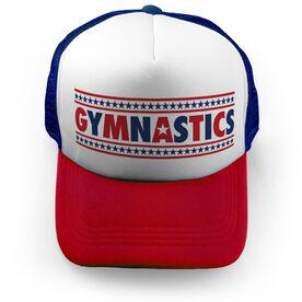 Gymnastics Trucker Hat - Patriotic Gymnastics