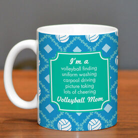 Volleyball Ceramic Mug Mom Poem With Ball Pattern