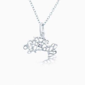 Sterling Silver I Love Softball Necklace