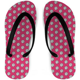 Volleyball Flip Flops Ball Pattern