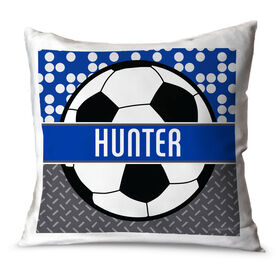 Soccer Throw Pillow Personalized 2 Tier Patterns With Soccer Ball