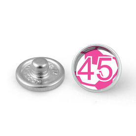 Pink Soccer Ball Your Number SportSNAPS Charm