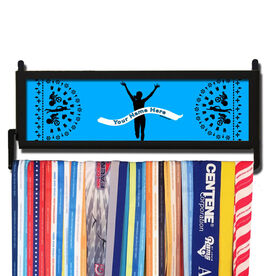 TriathletesWALL Personalized Finish Line Female Medal Display