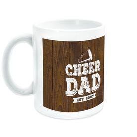 Cheerleading Ceramic Mug Dad With Wood Background