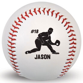 Custom Baseball Fielder With Name And Number
