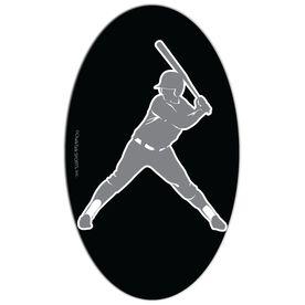 Softball Oval Car Magnet Batter