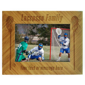 Guys Lacrosse Bamboo Engraved Picture Frame Lacrosse Family